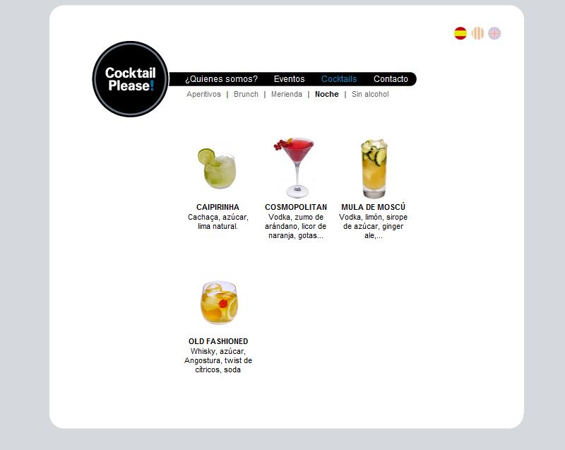 Listado de Cocktails
